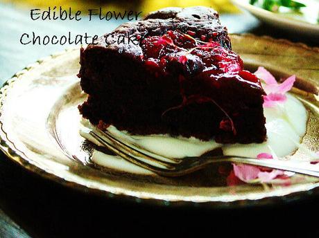 サラダカーネーションのチョコケーキ