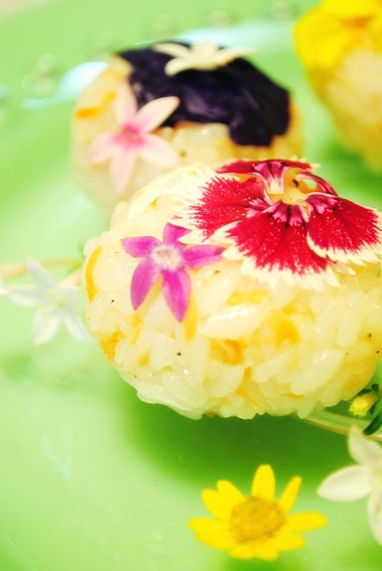 ライスサラダの手鞠寿司