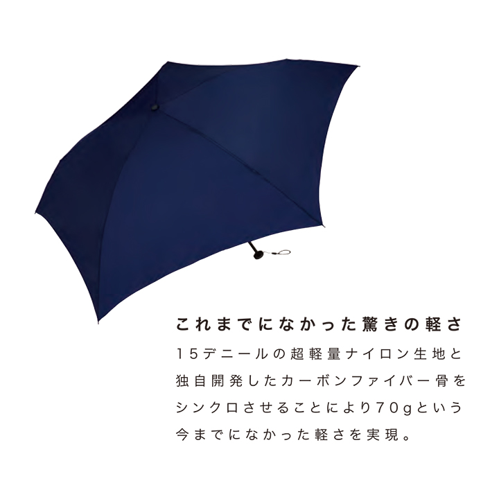 WPC レディース折りたたみ傘 Super Air-light Umbrella 50cm MSK50 MSK50, WPC 超軽量70g